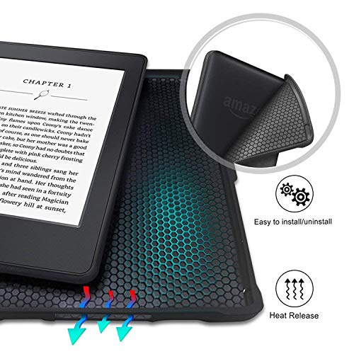 Case for Kindle Paperwhite -Premium Thinnest and Lightest PU Leather Cover with Auto Wake/Sleep for Amazon All-New Kindle Paperwhite (Fits 2012, 2013, 2015 Versions), Nebula Galaxy by Genetic. (Image #3)