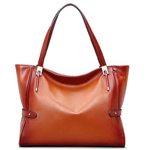 AINIMOER-Womens-Vintage-Soft-Genuine-Leather-Tote-Shoulder-Bags-Top-handle-ladies-Handbags-Purse