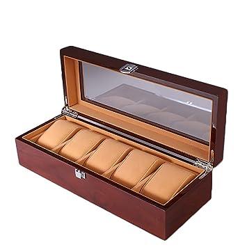 de535d64f4a8 SSHZ-YJ Caja de Reloj de Madera, Soporte de exhibición/Caja/Caja de ...