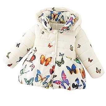 eb74ba9bcc2 AOLU Newborn Toddler Baby Kids Girl s Winter Warm Soft Comfortable Long  Sleeve Cotton-Padded Jacket