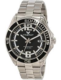 Mens 40353-55 Black Dial Stainless Steel Date Watch