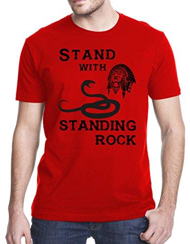 Stand With Standing Rock   Dakota Access Pipeline Dapl Resistance T Shirt  Medium  Red
