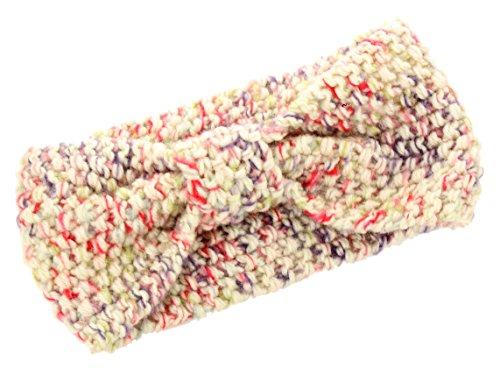 Womens Knitted Bow Warmer Headband