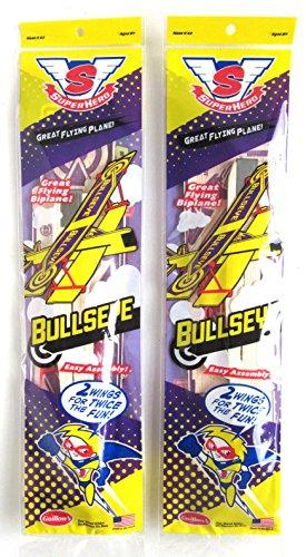 Guillows Sopwith Camel - Big Game Toys~(2) BIPLANE Bullseye Balsa wood Airplane glider GUILLOWS model kit #43