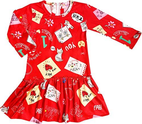 Toddler Girls Valentine's Day Love Kitty Dress 3T/S