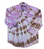 Brown and Purple Tie Dye Shirt - L