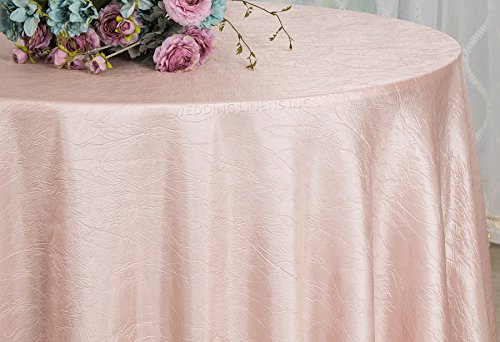 90 x 132 inch Rectangular Crinkle Taffeta Tablecloth Coral,Crushed Table Covers