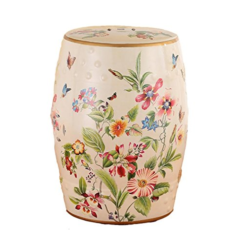 - AIDELAI Bar Stool Chair- European-Style Hand-Painted Ceramic Drum Stool Shoe Stool Ornaments Neo-Classical Dressing Stool Round Stool (30 46cm) Saddle Seat (Color : C)