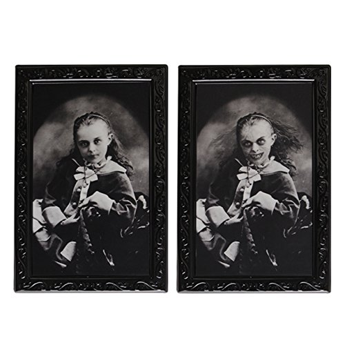 Halloween Lenticular 3D Changing Face Horror Portrait Haunted Spooky Horror Decorations -