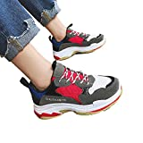 York Zhu Women Flat Platform Casual Shoes Thick Bottom Shoes Mesh Air Flat Sneakers