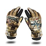 Aoneky Mens Winter Outdoor Gloves Waterproof for Hunting Shooting Fishing Mountain Warehouse, Camo (1 Pair)