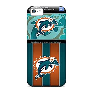 Marycase88 Iphone 5c Excellent Cell-phone Hard Covers Customized Lifelike Miami Dolphins Image [kzK10180Opol]