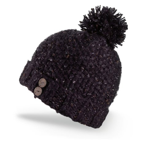 Dakine Women's Maddy Hand Knit Beanie with Pom (Black, One Size)