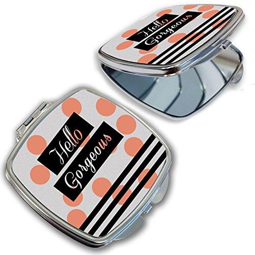 BleuReign(TM) Hello Gorgeous Polka Dots Compact Mirror