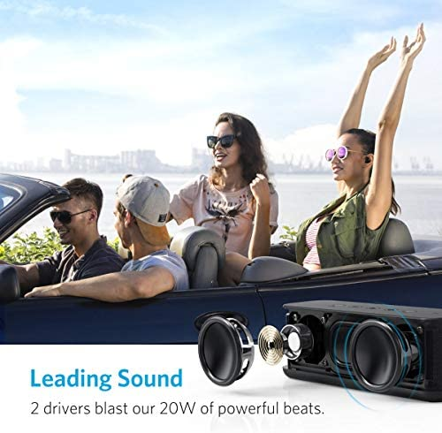 Portable Speakers, Anker Soundcore Boost 20W Bluetooth Speaker with BassUp Technology, 12H Playtime, IPX5 Water-Resistant, Wireless Speaker with Superior Sound & Bass for iPhone, Samsung and More 51SxR1MhwyL