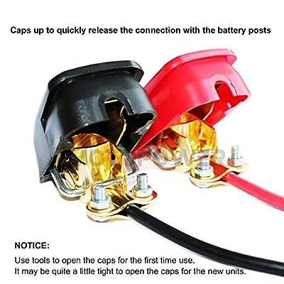 MOTOPOWER MP69011 Battery Quick Release Connectors Battery Quick Disconnect Terminals (Red & Black): Automotive