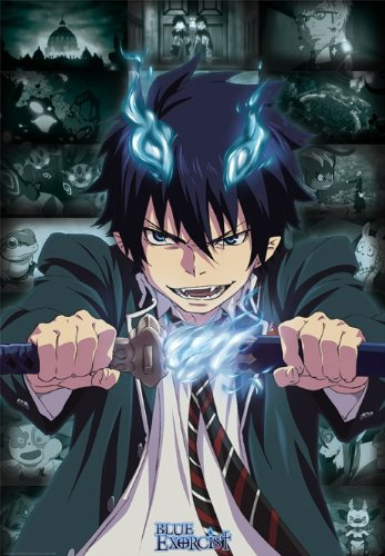 amazon com blue exorcist poster rin 39 x 27 prints posters