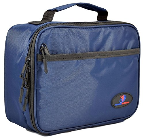 insulated-lunch-box-for-kids-with-double-sewn-nylon-zipper-pockets-and-carry-handle-navy-blue