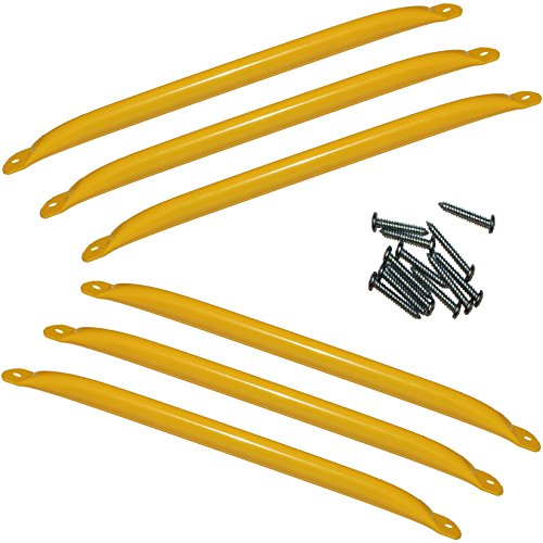 Price comparison product image Jungle Gym Kingdom Metal Monkey Bars Ladder Rungs Playground Swing Set Accessories - Yellow