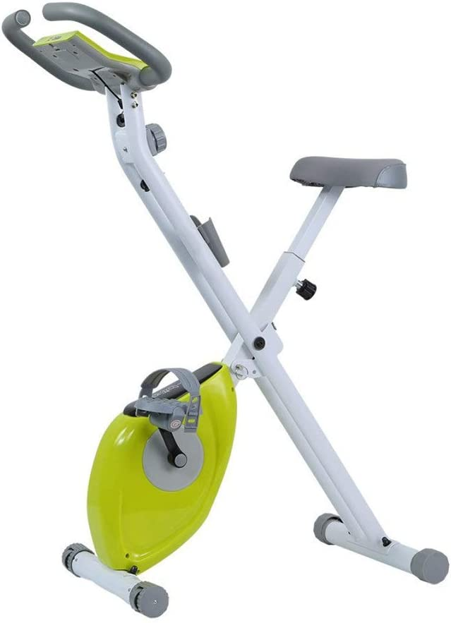 室内サイクリングエアロバイク フィットネスカーディオ減量トレーニングマシンで折り畳み式トレーニングコンピュータと楕円クロストレーナー Fitness Cardio Homeサイクリング (色 : 緑, サイズ : Free Size) 緑 Free Size