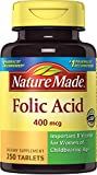 Nature Made Folic Acid 400 mcg. Tablets 250 Ct