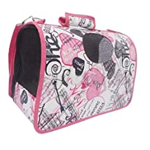 Forever Love M Size Carry Bag Sweet Cute Pet Home Dog Cat Puppy Rabbit Carrier House Travel(Pink White)