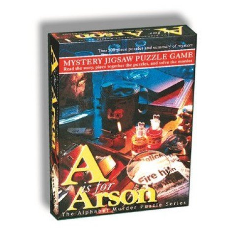 TDC Games A is for Arson Alphabet Mystery Puzzle ()