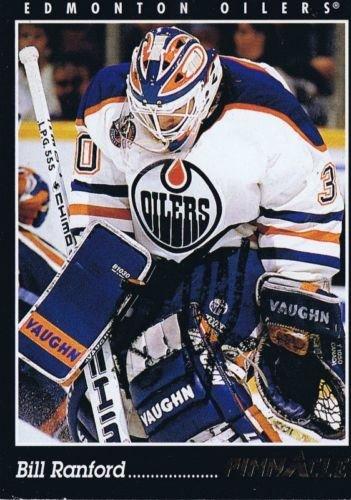 (Bill Ranford 1993 Pinnacle Autograph #81 Oilers)
