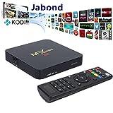[ 2016 Latest Super Mini ] Jabond MX Mini Set Top Box Android 5.1 Smart TV Box Amlogic S905 Quad Core Full Loaded Ultra HD 4K 1080P 3D Blu-ray Streaming Media Player with BT 4.0 1GB/8GB