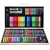 Children's Drawing Tools Set 180 Pieces of Merchandise Painting Set Crayon Oil Pastels Watercolor Pen Set Wooden Boxed Men and Women Christmas Gifts