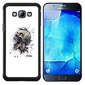 "Be-Star Único Patrón Plástico Duro Fundas Cover Cubre Hard Case Cover Para Samsung Galaxy A8 / SM-A800 ( Cráneo Zombie Evil"" )"