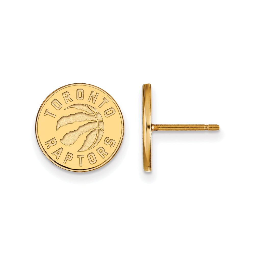 NBA Toronto Raptors Post Earrings in 14K Yellow Gold