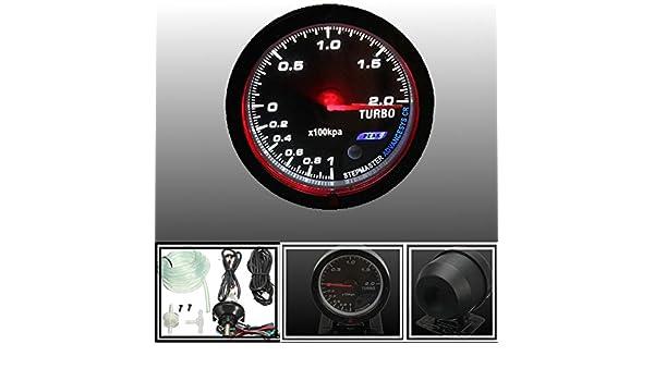 Universal 12V 60mm Black Car Auto Turbo Boost Gauge Meter With Mount Bracket: Amazon.es: Electrónica
