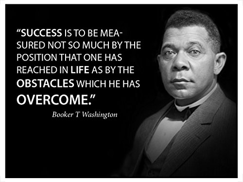 Success is to be Measured Famous Quote Poster Landscape by Booker T Washington Motivational Decoration for School classrooms Libraries Study Halls Educators -