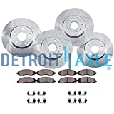 #10: Detroit Axle - 320mm FRONT & REAR DRILLED and SLOTTED Brake Rotors & Ceramic Brake Pads w/Hardware fits Infiniti EX35 G25 G35 G37 G45 M35 M45 & Nissan 350Z 370Z