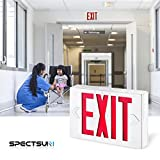 SPECTSUN White Exit Light, LED Exit Lamp, Red