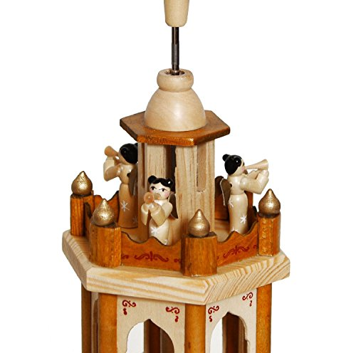 BRUBAKER Christmas Pyramid - 24 Inches - 4 Tier Carousel with 6 Candle Holder and Hand Painted Figurines - Designed in GERMANY - Nativity Set, Decoration by BRUBAKER (Image #3)