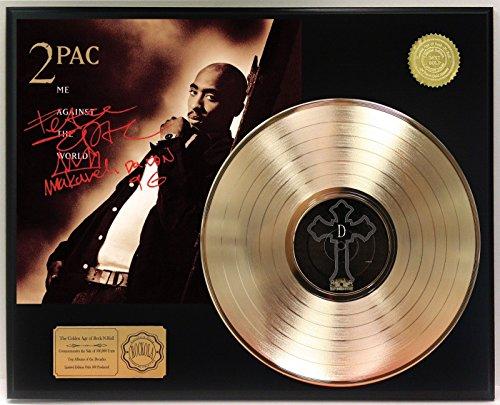 Tupac Me Against The World Gold Lp Ltd Signature Display C3