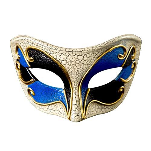 Gras Maschera Di Halloween Ballo Vintage Zhhyltt Travestimento Crepa Mens Mascherata Blu Maschere Partito Maschera Idea Novità Mardi In xAXSZqw