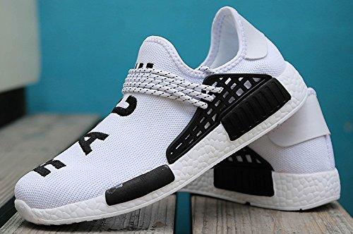 JiYe Herren Laufschuhe Free Transform Flyknit Fashion Sneakers Weiß