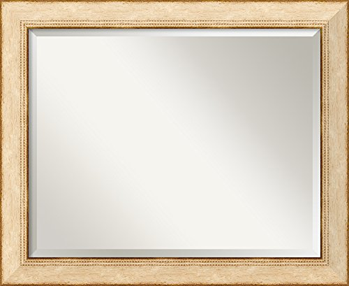 Wall Mirror Large, Highland Park Cream Wood: Outer Size 33 x 27
