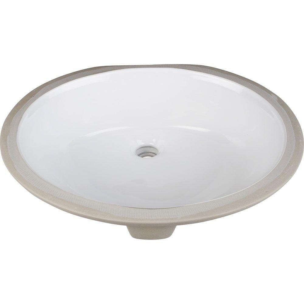 Elements H8810WH 17 Inch Undermount Sink Basin, White Finish