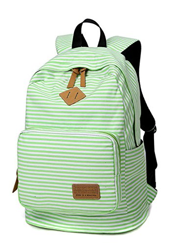 Backpack for Woman College-style Leisure Backpack Schoolbag Traveling Backpack Green