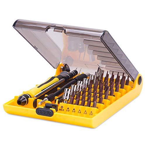Screwdriver Set Precision Tool Kit - 46 in 1 with Extensions Precision Screw Driver Bits Magnetic Screwdriver Set for Multi Phone Repair,PC Repair,Jewelers