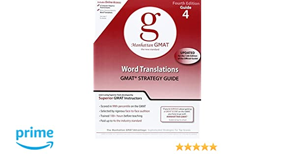 Amazon.com: Word Translations, 4th Edition (GMAT Strategy Guide ...