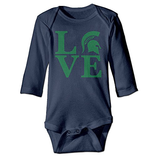 [DETED Michigan Love State University Funny Baby Girls Boys Climb Clothes Size18 Months Navy] (Dead Football Player Costume)