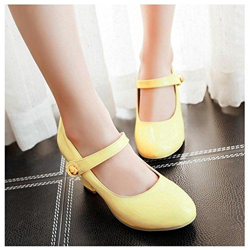 Women Fashion Pumps Zuban Chila Heels Yellow 7q5fw64nw