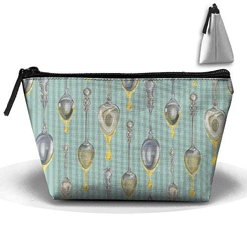 Travel Cosmetic Bags Honey Drop Spoon Small Makeup Bag Multifunction Pouch Cosmetic Handbag Toiletries Organizer Bag for Women Girl