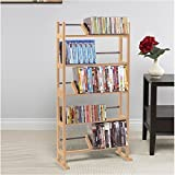 Pemberly Row 41'' Media Storage Rack in Maple