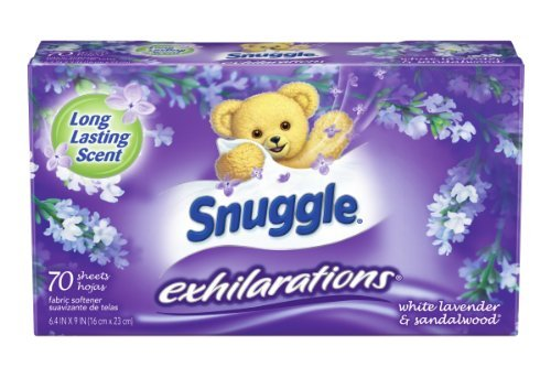 s Fabric Softener Dryer Sheets, White Lavender & Sandalwood, 70 Count by Snuggle ()